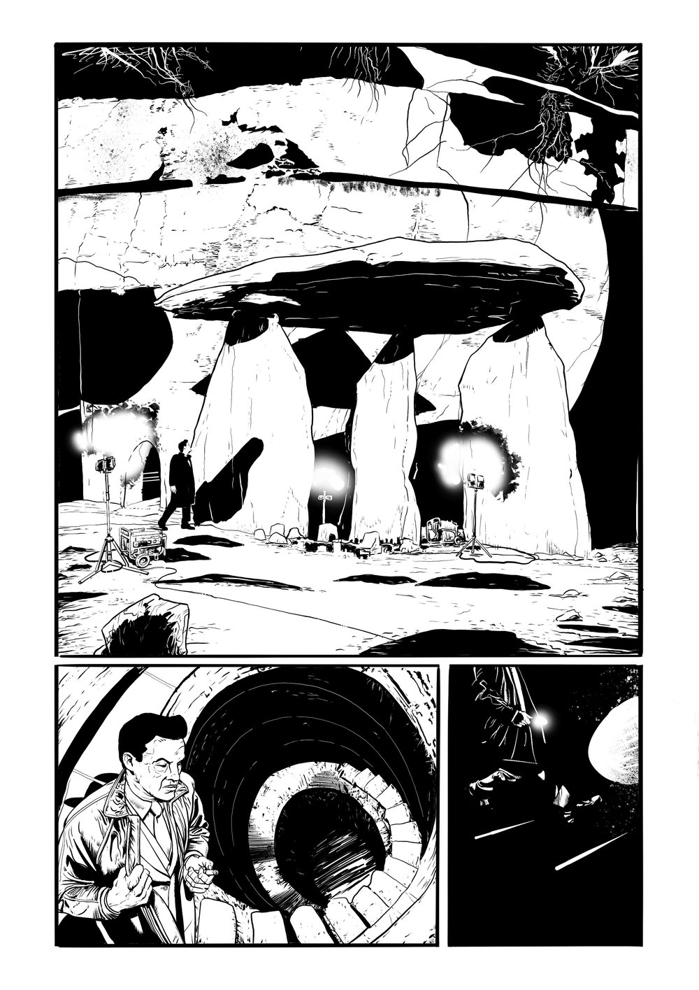 Above: interior page from Corsair available only on www.kickstarter.com