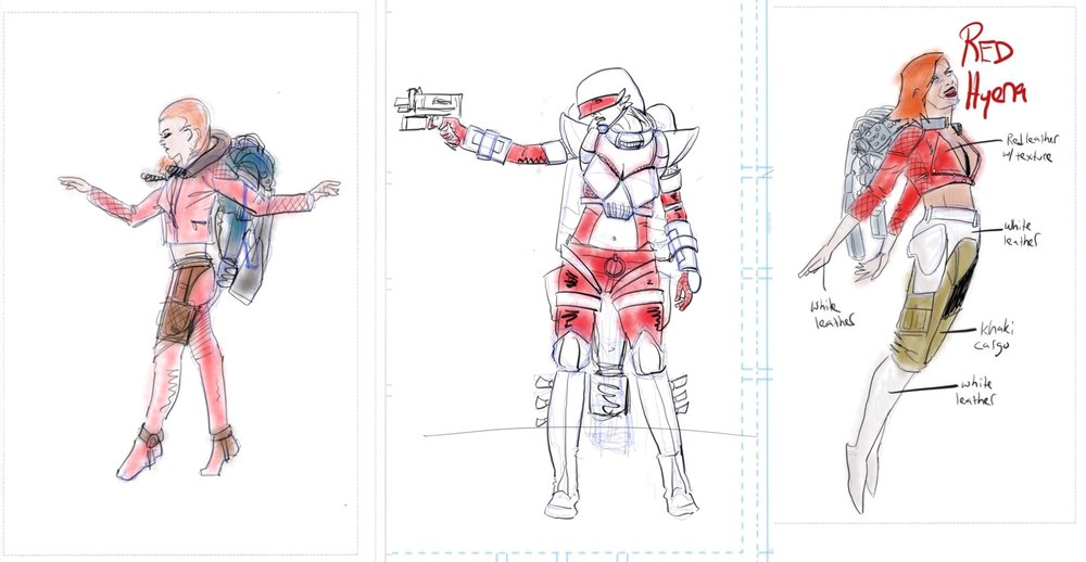 Above: unused production art for Project Shadow Breed.