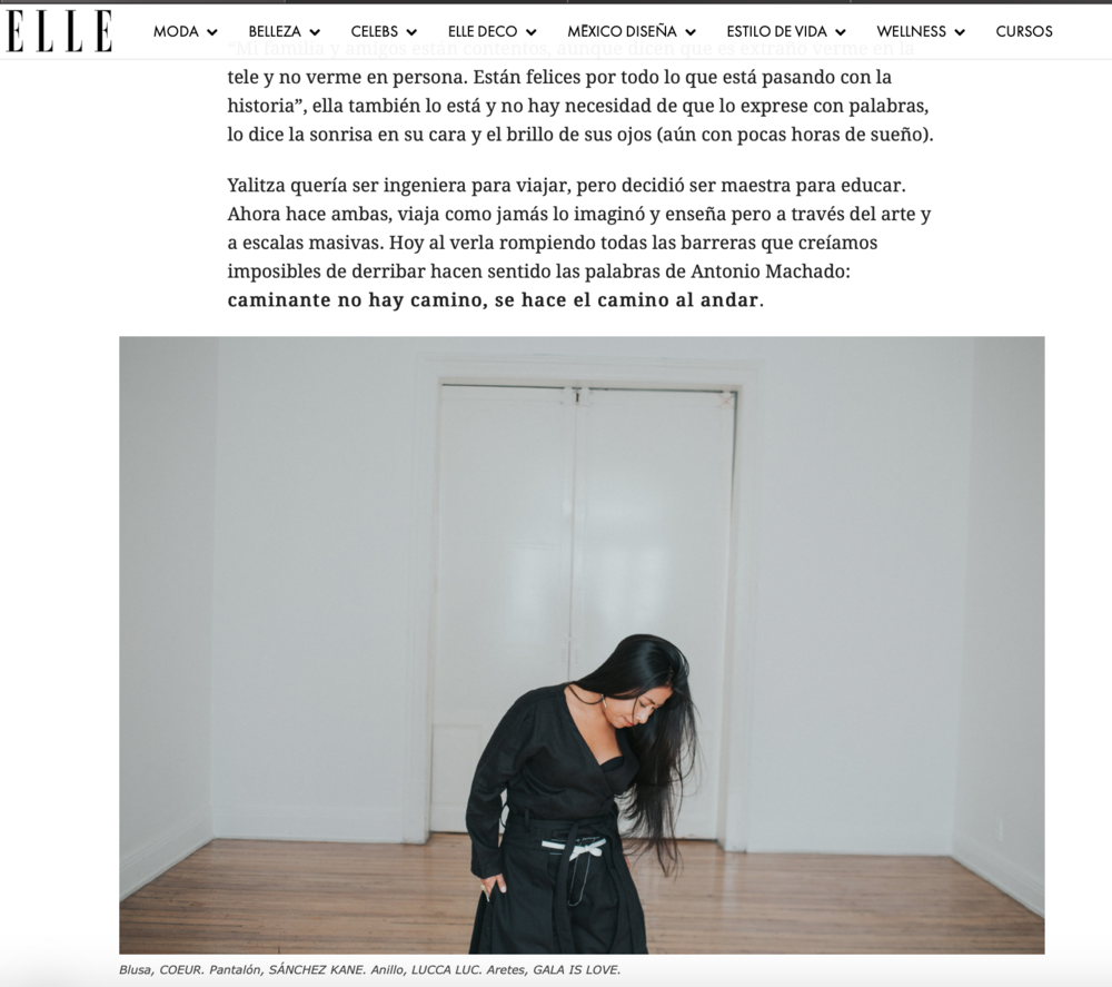 Yalitza Aparicio de Roma en ELLE MÉXICO, Coeur Kimono Top,  link here .