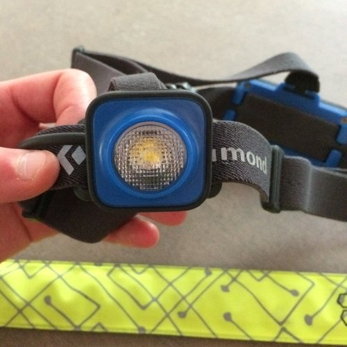 9b804b69a12 My favorite non-headlamp light for running is the BSeen LED band. It is  super bright and comes in lots of fun colors. I prefer to wear it around my  arm or ...