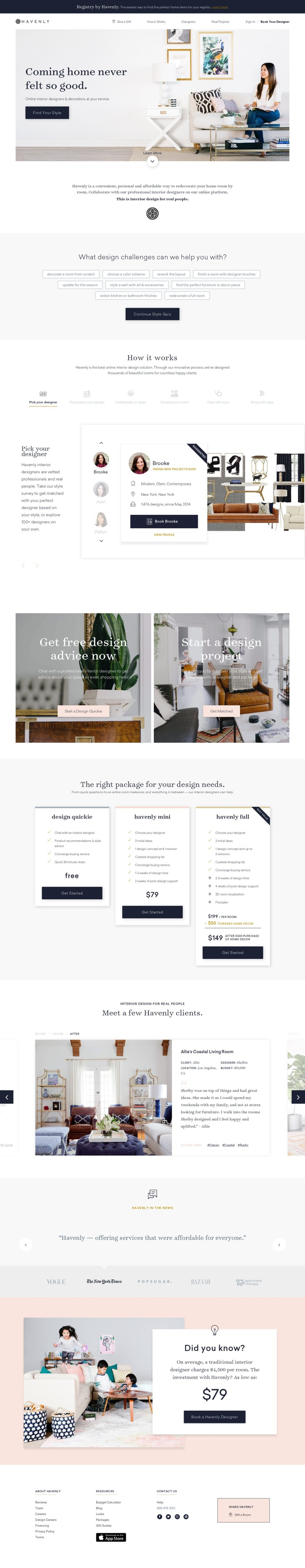 havenly homepage