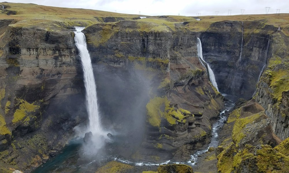 Haifoss waterfall in Iceland is one of the tallest waterfalls in Iceland.