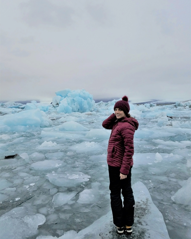Visit the Jokulsarlon glacier lagoon in Iceland to see icebergs and glaciers up close.