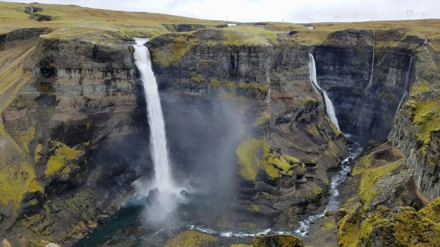 Iceland day trip to Haifoss waterfall