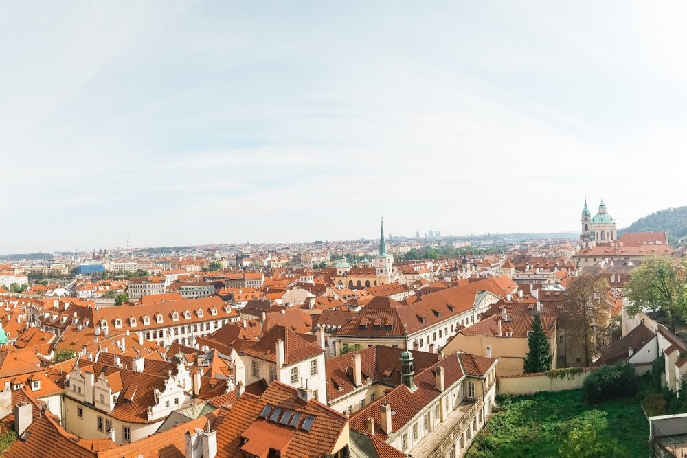 Sweeping views looking over the city of Prague from the Prague Castle. This 7-day Central Europe itinerary guides you to the best sights in Prague, Vienna and Budapest.