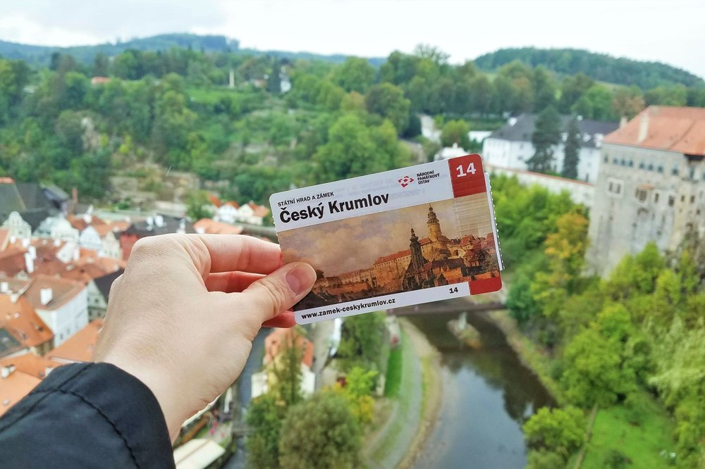 These Cesky Krumlov day trips from Prague typically include tickets and a visit to the Cesky Krumlov castle, where you can see the old town and river from the hilltop grounds.