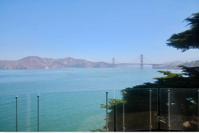 With a master deck view like this, why would you ever want to leave home? ☀️ 🌉  #fullhouseremodel #goldengatebridge #sf #views #details #workfromhome