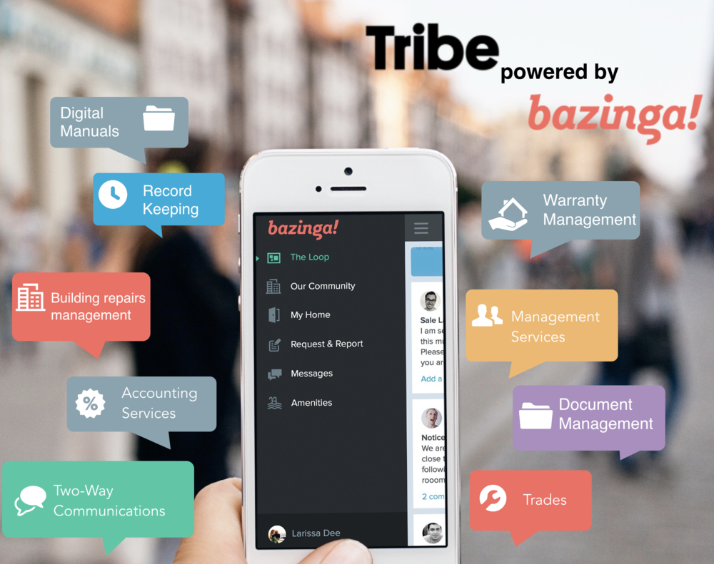 Tribe powered by Bazinga! strata management tools