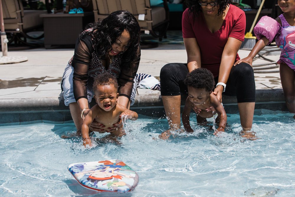 documentary lifestyle family photo session at pool learning to swim Ore Adesina Photography Oklahoma City