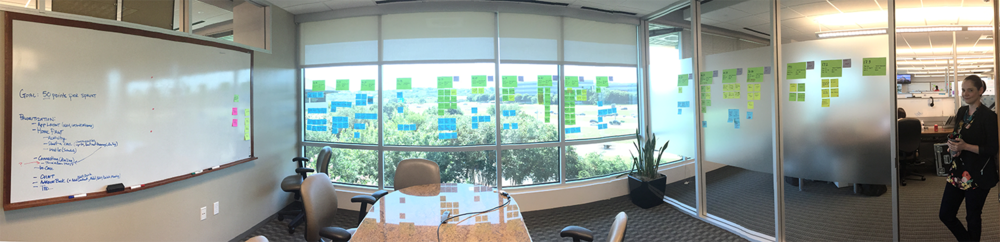 """Our """"sprint zero"""" planning exercise was also the first visual of a realistic timeline for delivering the finished apps to customers."""