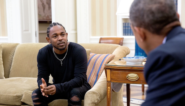 Photo 4: Kendrick Lamar meets President Obama at the White House