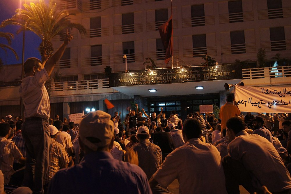 Arab Spring protests in Morocco ( source )