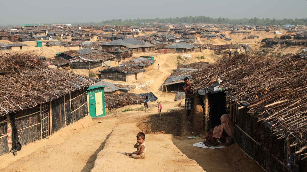 The Kutupalong refugee camp in Bangladesh, inhabited predominantly by Rohingya Muslims ( source )