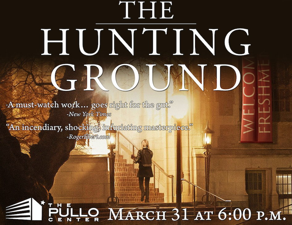 """A flyer for a screening of the documentary """"The Hunting Ground"""" at Penn State York ( source )"""