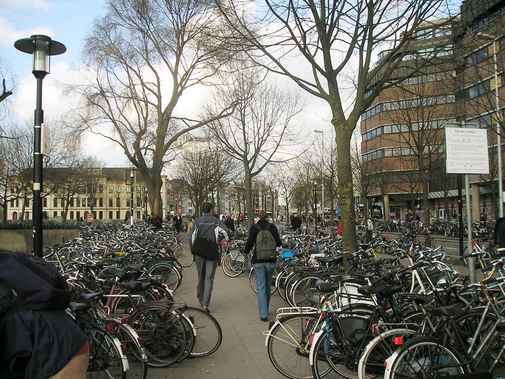 Bikes in Utrecht, Netherlands ( source )