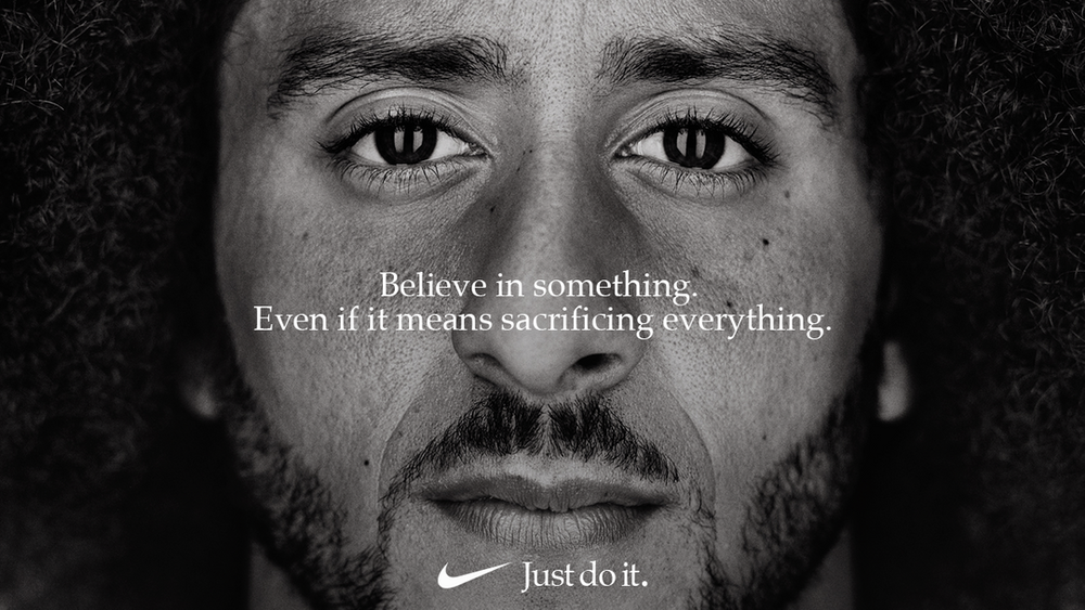 """Colin Kaepernick, the newest face of Nike's """"Just Do It"""" campaign ( source )"""