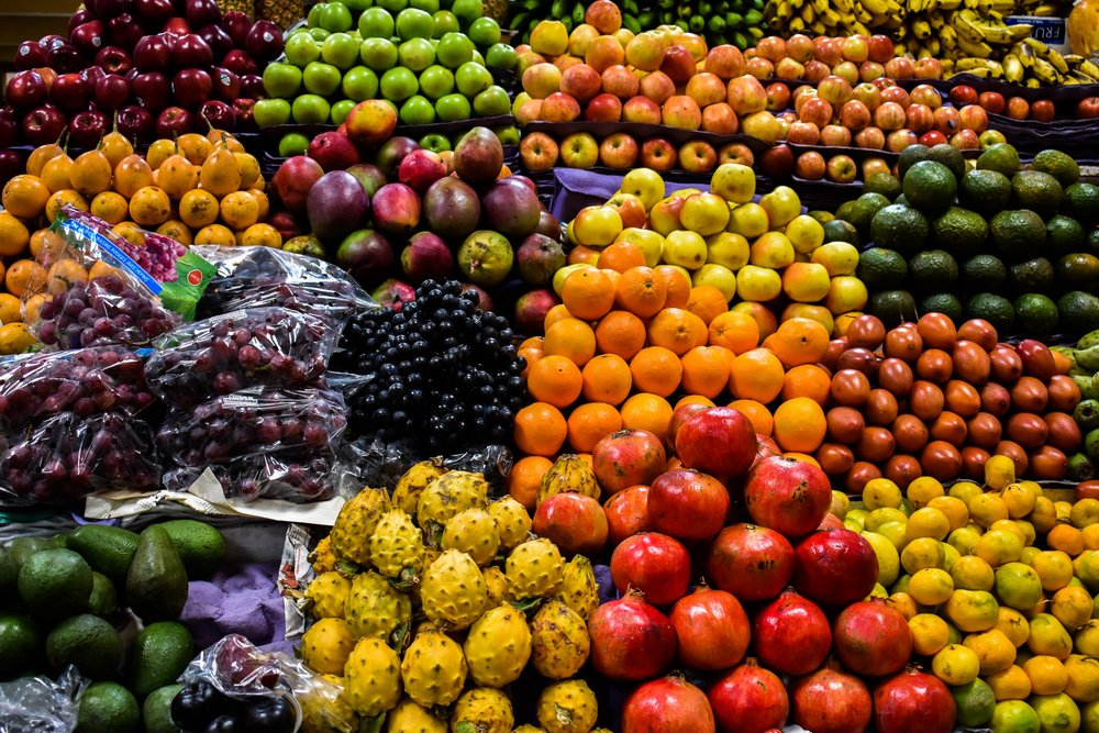 Produce at an open-air market in Quito (Image: Valerie Lundeen)