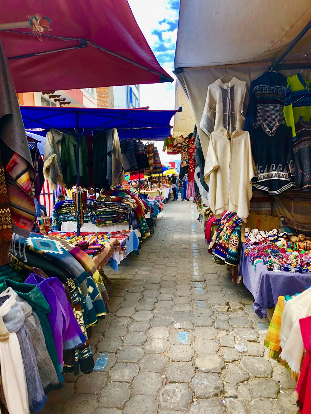 A market in Otavalo, an hour's drive from the capital of Quito (Image: Valerie Lundeen)