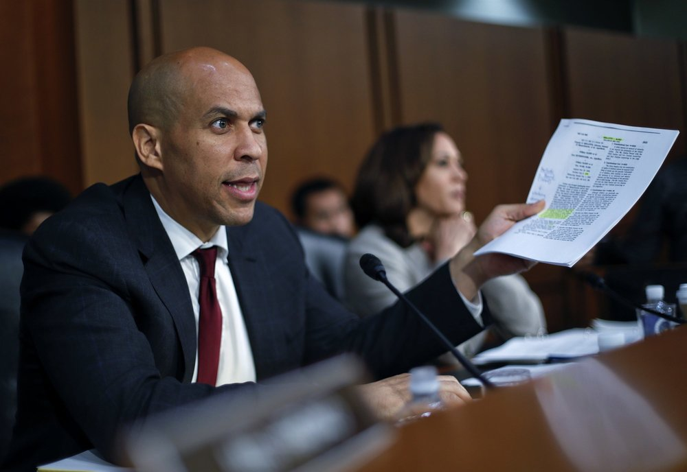Senator Cory Booker (D-NJ) speaking during the Senate Judiciary Committee hearings on September 7th ( source )