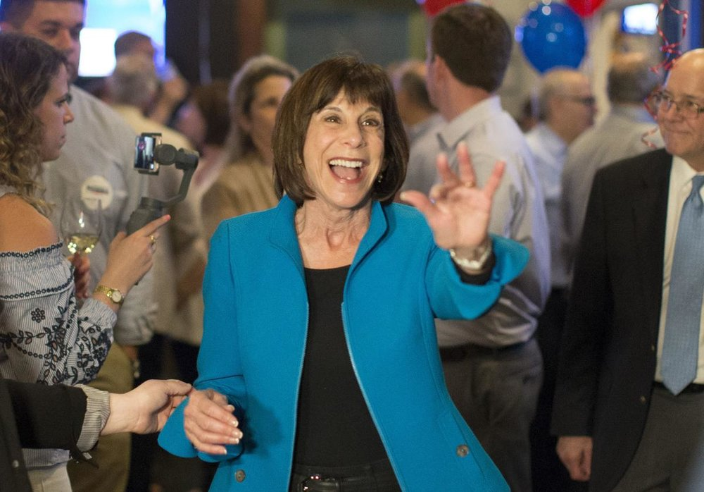 Kathy Manning after winning the Democratic primary in May ( source )