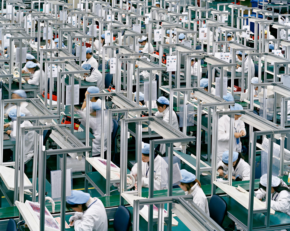 The factory floor at Ningbo Bird, a Chinese mobile phone producer ( source )