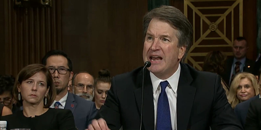Supreme Court nominee Brett Kavanaugh giving his opening statement ( source )