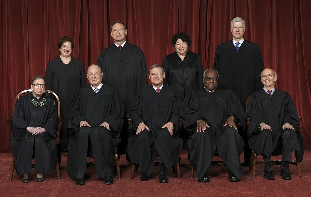 The Roberts Court in 2017, before Anthony Kennedy retired in June of this year and was replaced by Brett Kavanaugh ( Image )