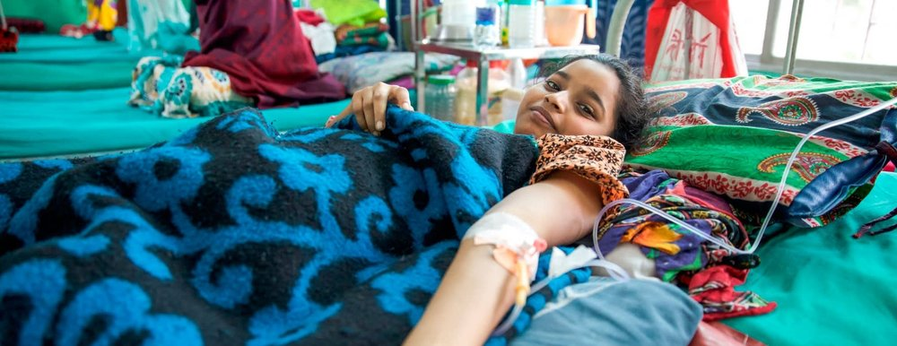 A child receiving care in a medical facility in India ( Image )