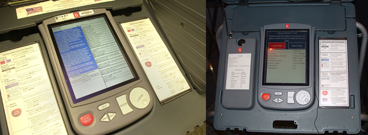 Voting machines manufactured by Hart InterCivic ( Image )