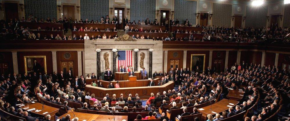 The United States Senate in session ( Image )