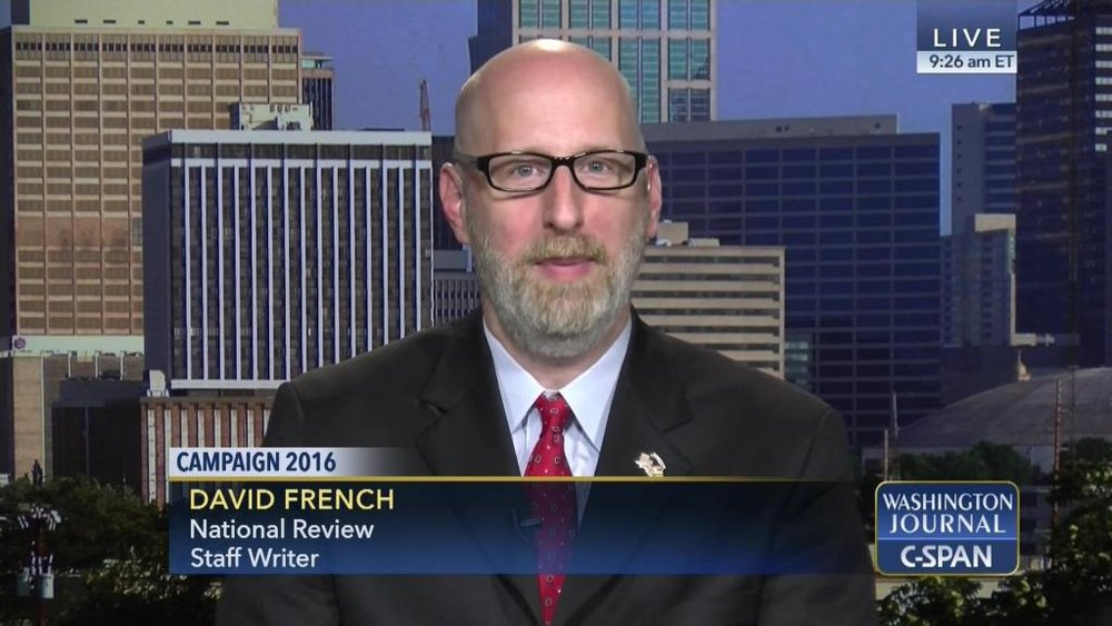 National Review writer David French appears on C-SPAN in 2016 ( Image )