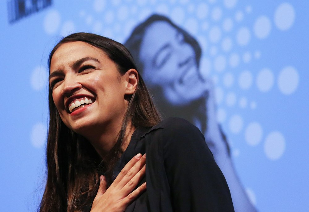 Alexandria Ocasio-Cortez, who will take office as a member of the US House in January ( Image )