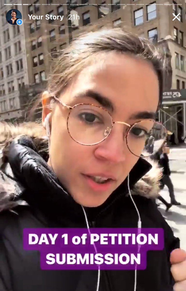 An Instagram story from Ocasio-Cortez during her campaign ( Image )