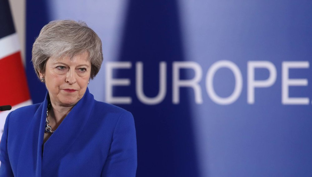 Prime Minister of the United Kingdom Theresa May at a press conference in Brussels ( Image )