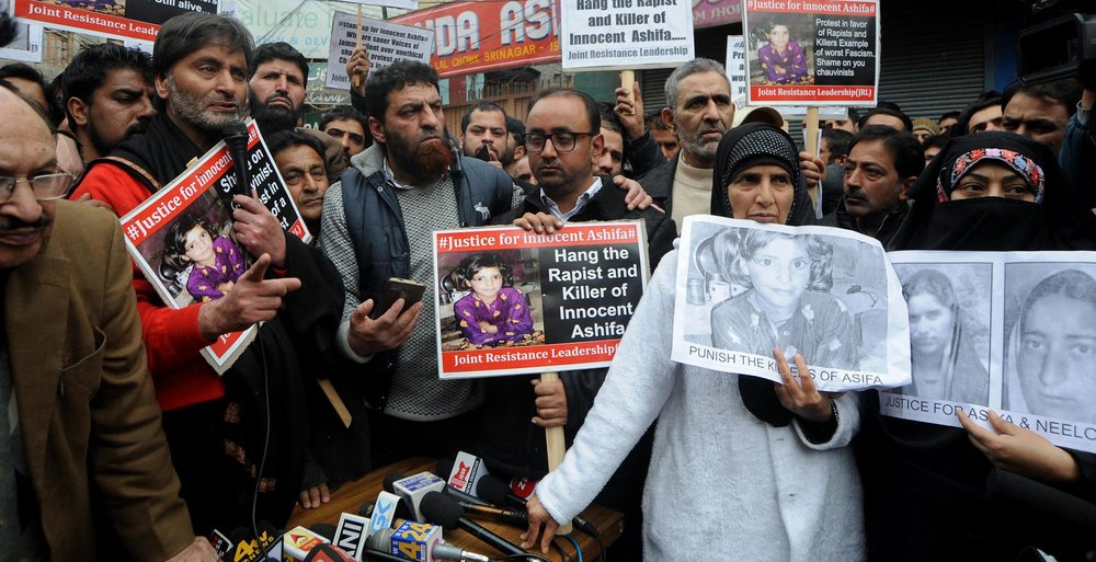 Indian civilians call for justice for Asifa Bano ( Image )
