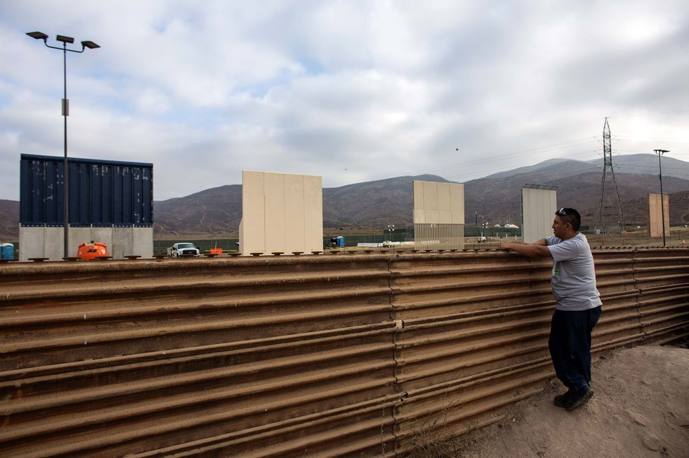 The United States-Mexico border as seen from Tijuana, Mexico ( Image )