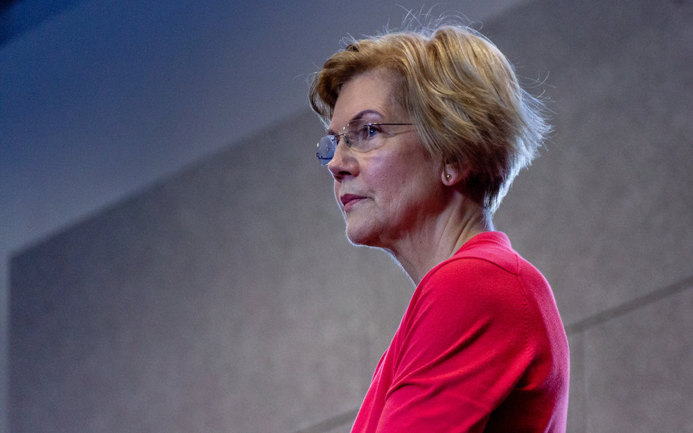 Senator from Massachusetts and presidential candidate Elizabeth Warren at an event in New Hampshire last month ( Image )