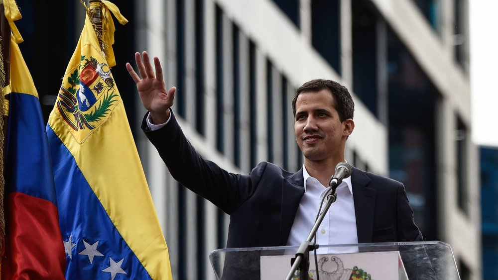 Juan Guaidó, President of the National Assembly of Venezuela and recognized by some as the leader of the country ( Image )