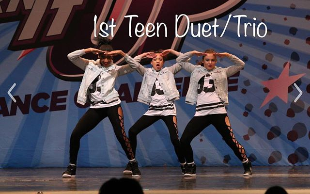 1st Teen Duet/Trio this past weekend ! Congrats ladies! You made everyone want to get out of their seats and dance