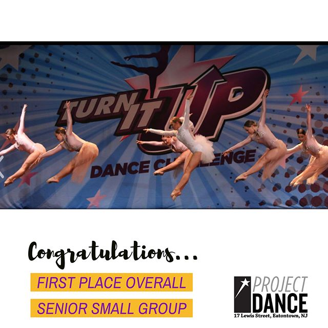 A big congratulations to the Project Dance Company placing First and Second Senior Small Groups at NDS this past weekend.  SO PROUD OF YOU ALL!!