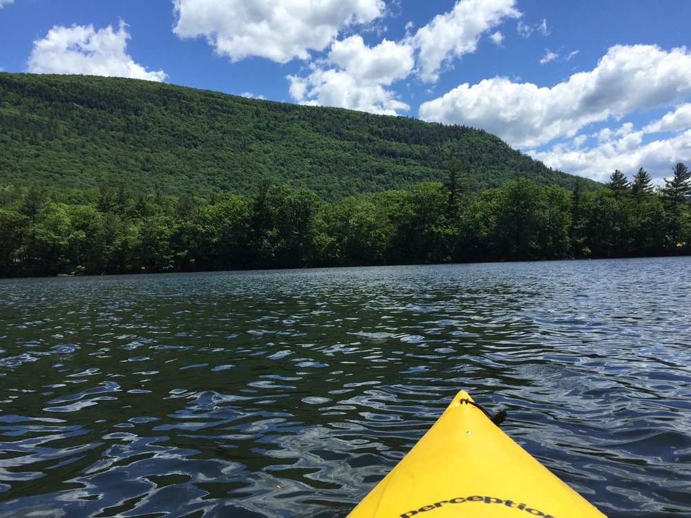 Paddling on Lake Dunmore