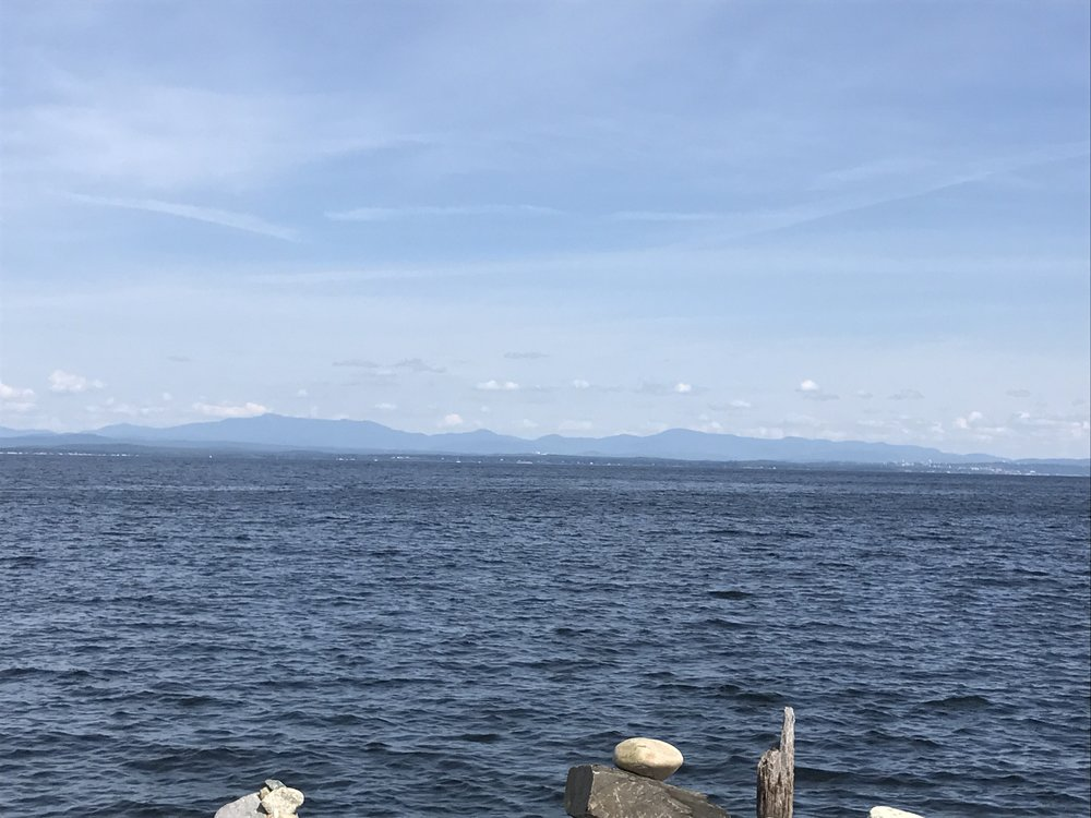 Looking from the ferry terminal towards Vermont.
