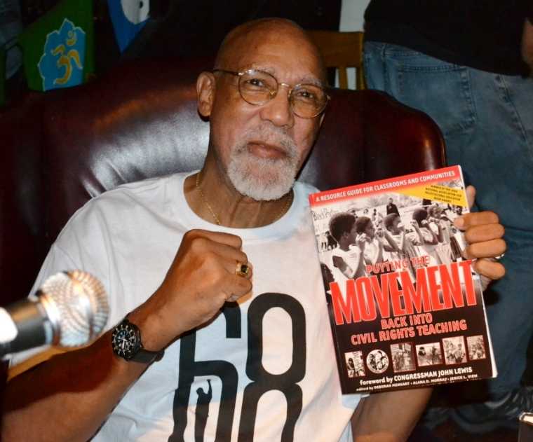 John Carlos with  Putting the Movement Back Into Civil Rights Teachin g.