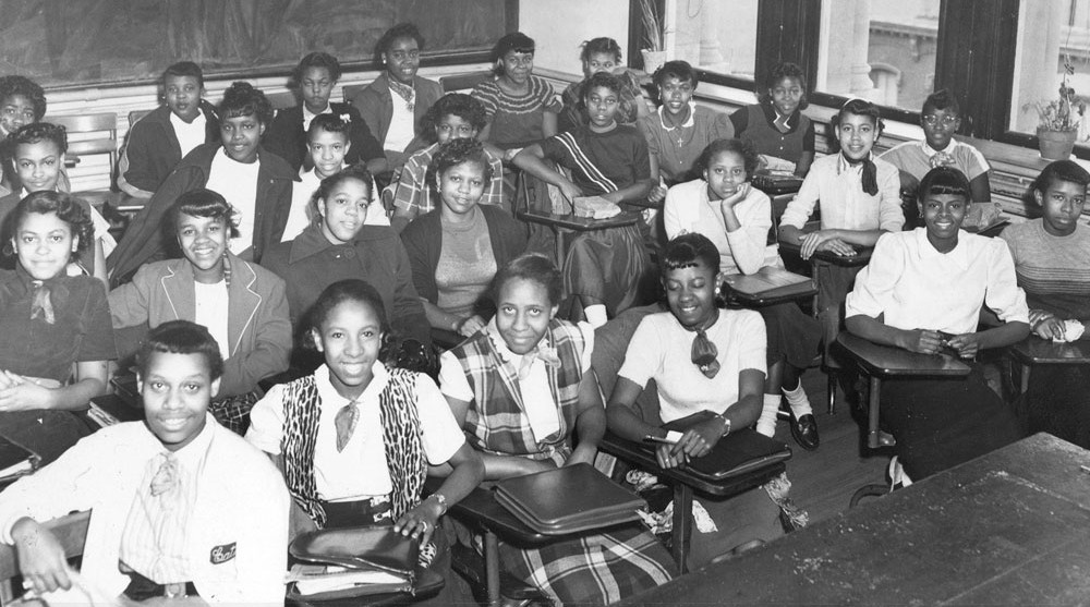 Shaw Junior High classroom, Washington, D.C., 1950. © The Charles Sumner Museum & Archives, D.C. Public Schools