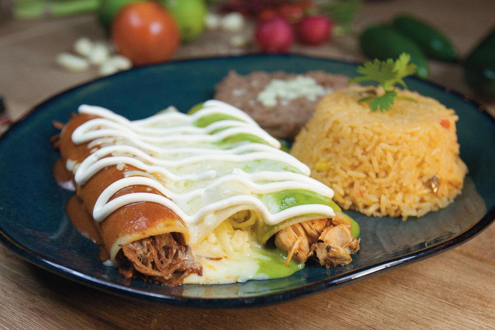 Enchiladas Bandera