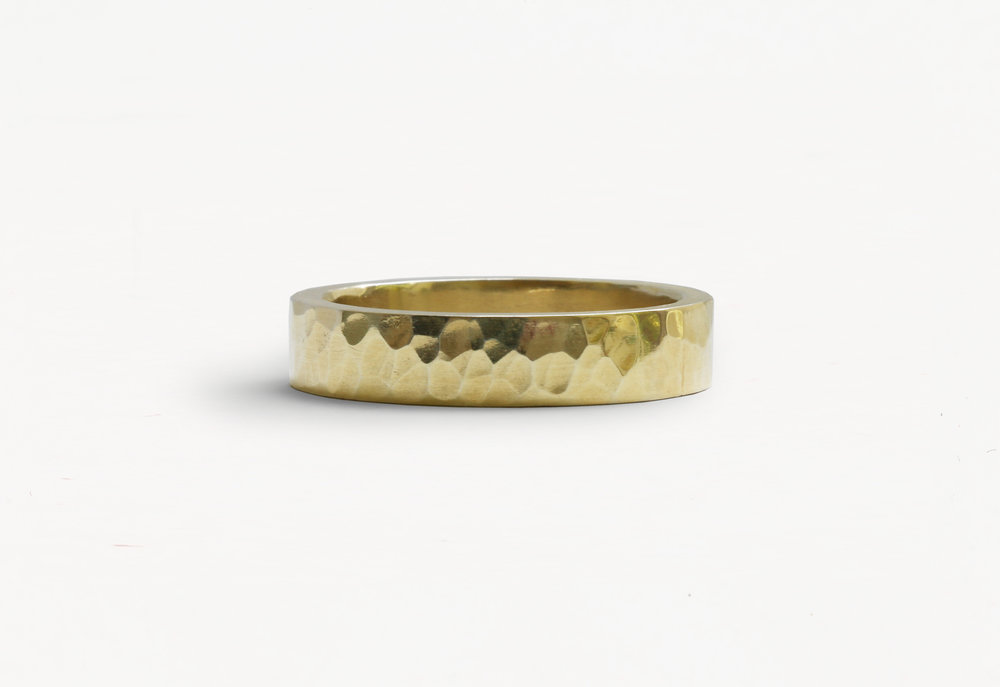 Christine Vasan | Hammered Ring in Yellow Gold