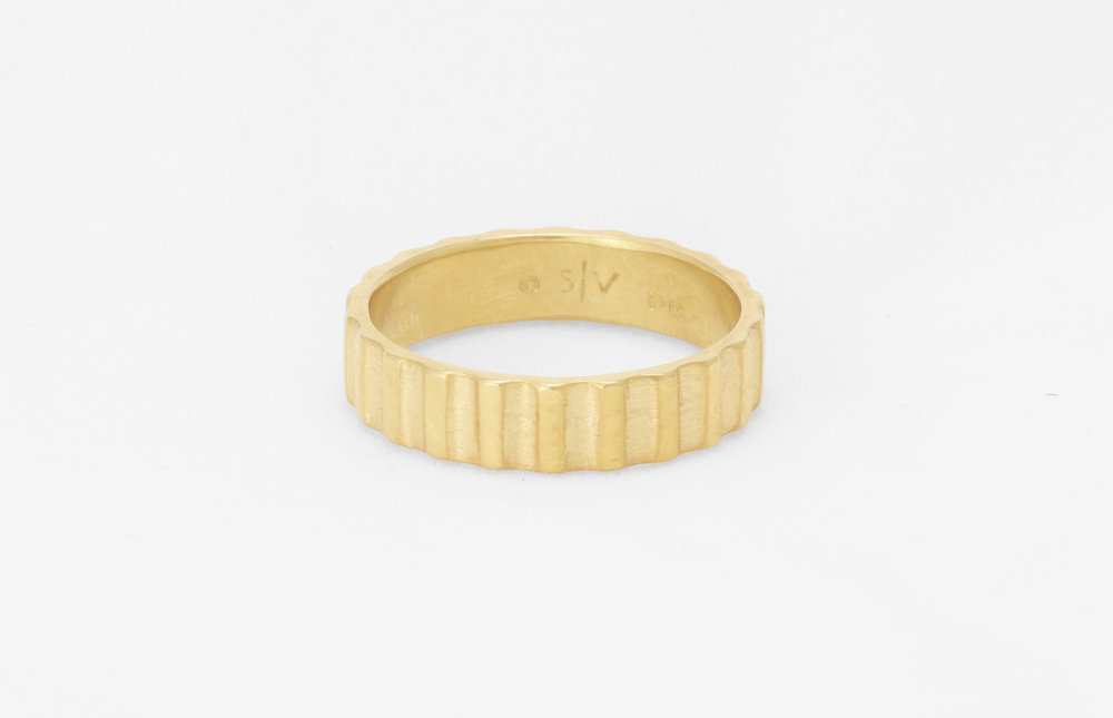 Christine Vasan | Gear Ring in Yellow Gold