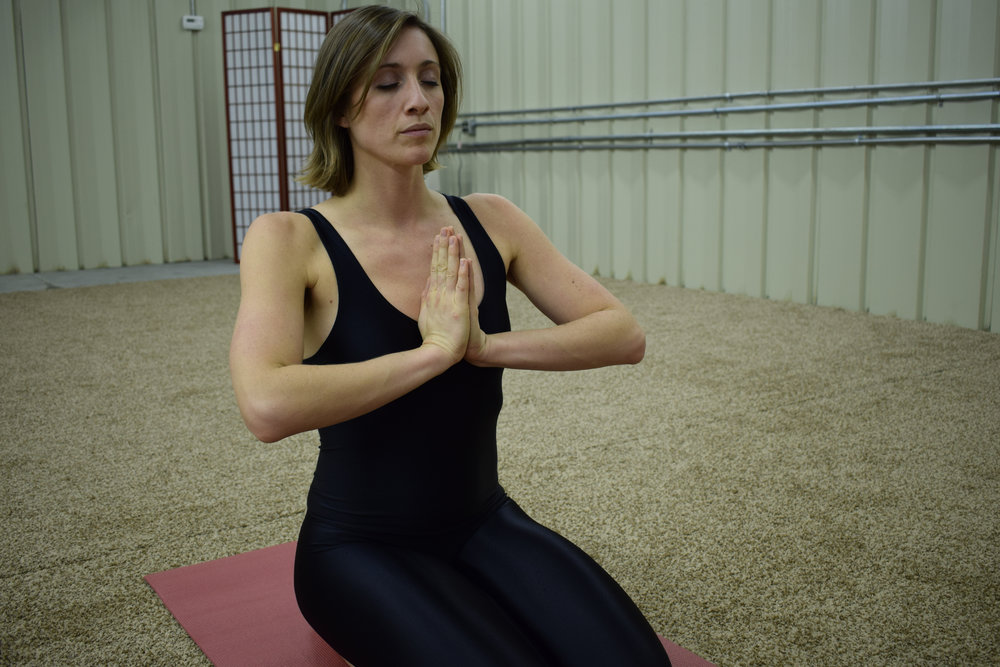 Figure 2: Press hands together firmly in  Anjali Mudra