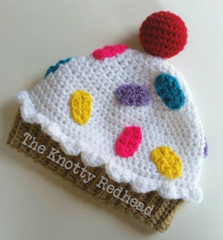 Cupcake Hat  FREE PATTERN  — The Knotty Redhead 017551f6644