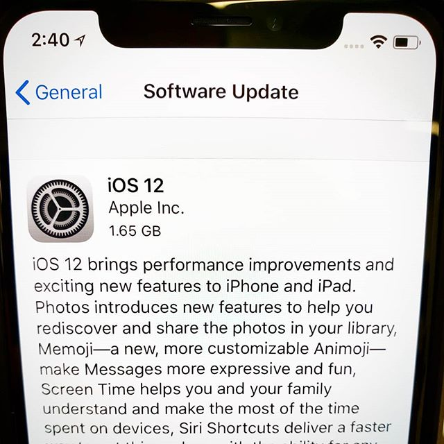 That was a huge update. #iOS12 @Apple #iPhoneX. iOS 12 is ready for download, enjoy!!! #ios #ios12update #youtubechannel #iphone #iphones #smartphone #mobilephone #appleiphone #apple #youtuber #youtube